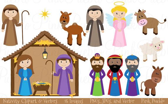 Angel clipart nativity scene Art Clip Nativity Clipart Use