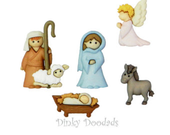 Figurine clipart nativity To cards James) buttons by