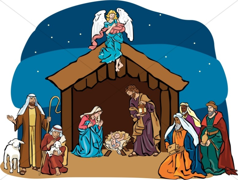 Angel clipart nativity scene Clipart nativity African Clipart american