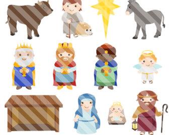 Figurine clipart nativity Illustration Etsy Art Digital Christ