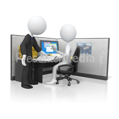 3D clipart boss Clipart  Business Employees and