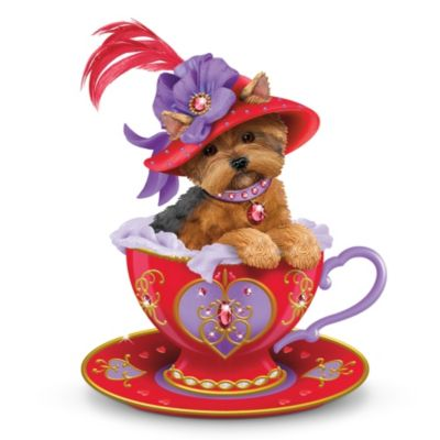 Yorkies clipart christmas Art Free Teacup on Red