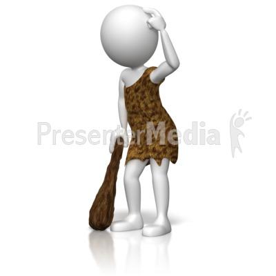 Figurine clipart scratch head For Thinking Caveman Art Clipart