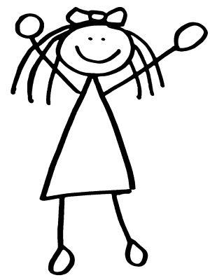 Drawn figurine match stick Prints Figure Girl images &