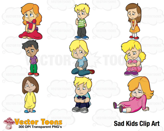Sad clipart sad kid #12