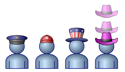 Figurine clipart visio Guy Visio Hats Shapes Snapping