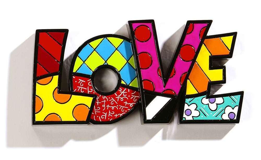Figurine clipart word ROMERO WORD LOVE WORD BRITTO