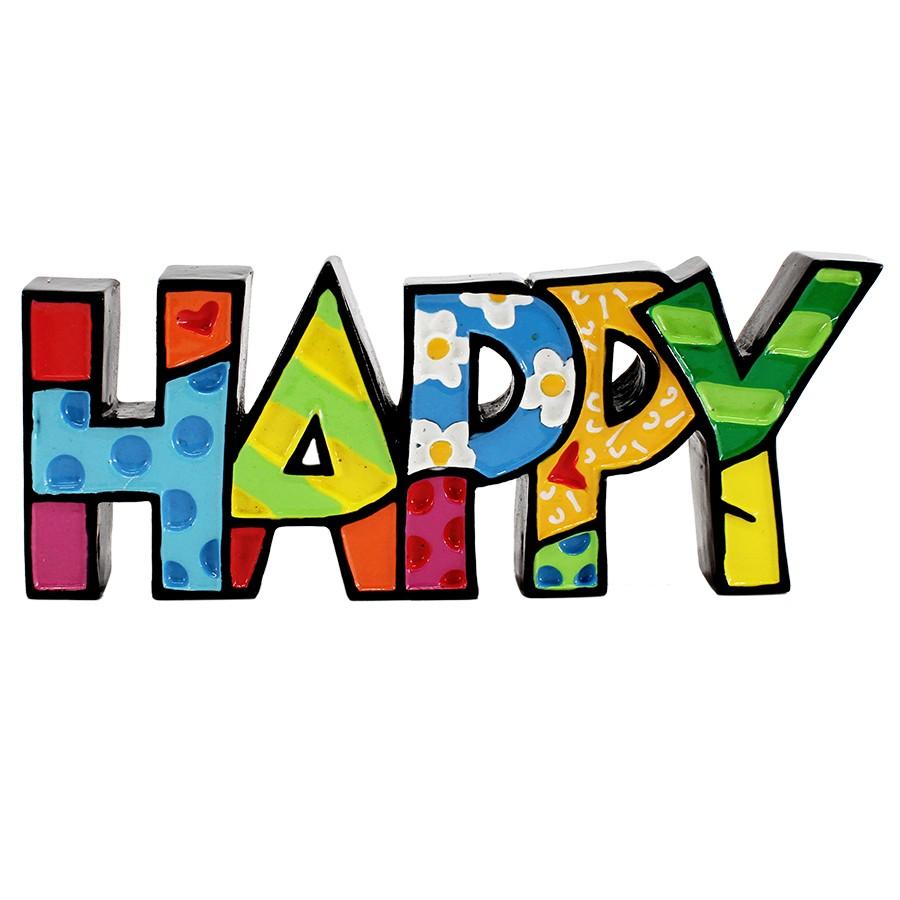 Figurine clipart word FIGURINE HAPPY MINI WORD FIGURINE