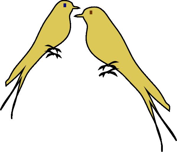 Yellow clipart love bird  online clip Art Art