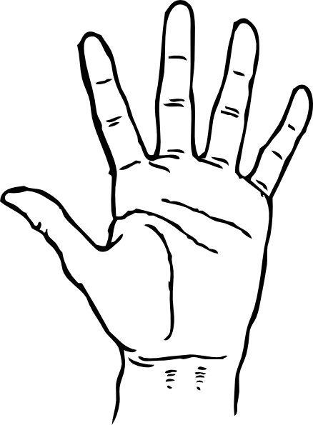 Finger clipart Middle 2 Clipartix finger 2