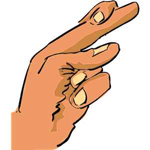 Finger clipart crossed #8