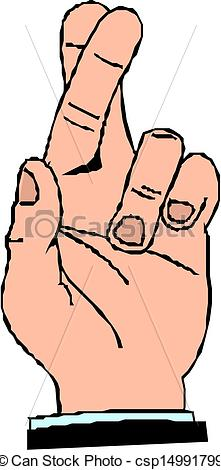 Finger clipart crossed #2