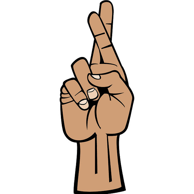 Finger clipart crossed #7