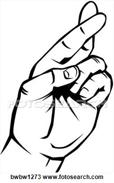 Finger clipart crossed #6