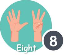Finger clipart eight #5