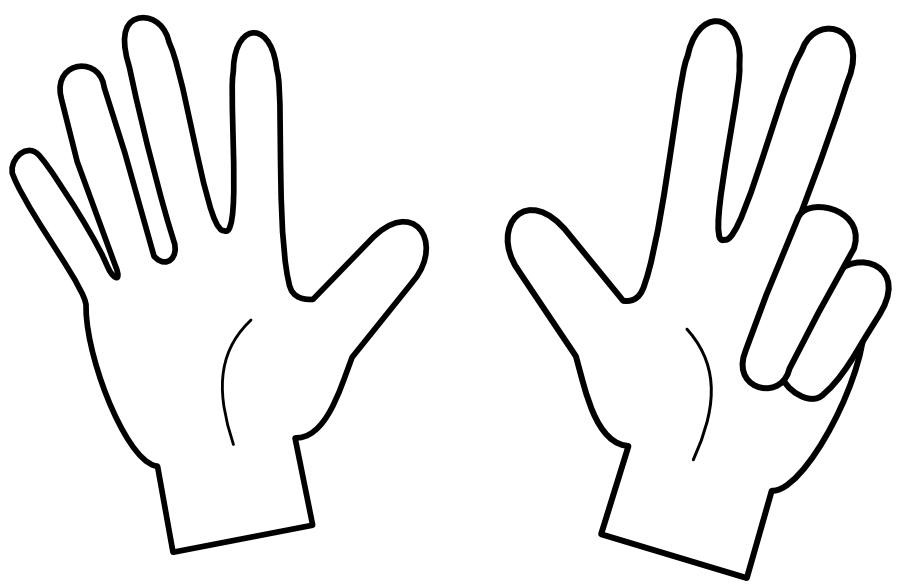 Finger clipart eight #4