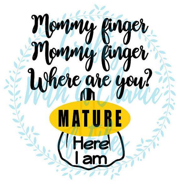 Finger clipart mommy SVG Finger Mom Funny best