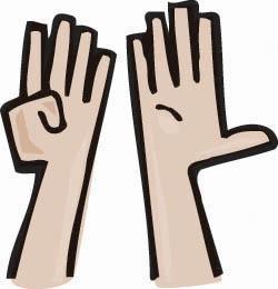 Finger clipart nine #5