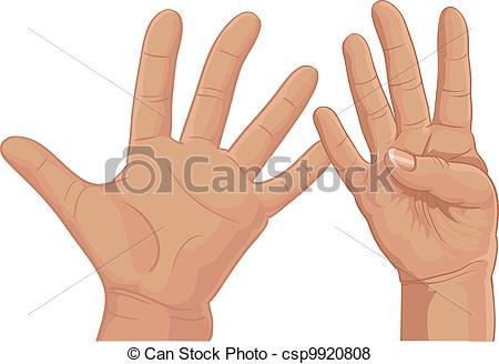 Finger clipart nine #2