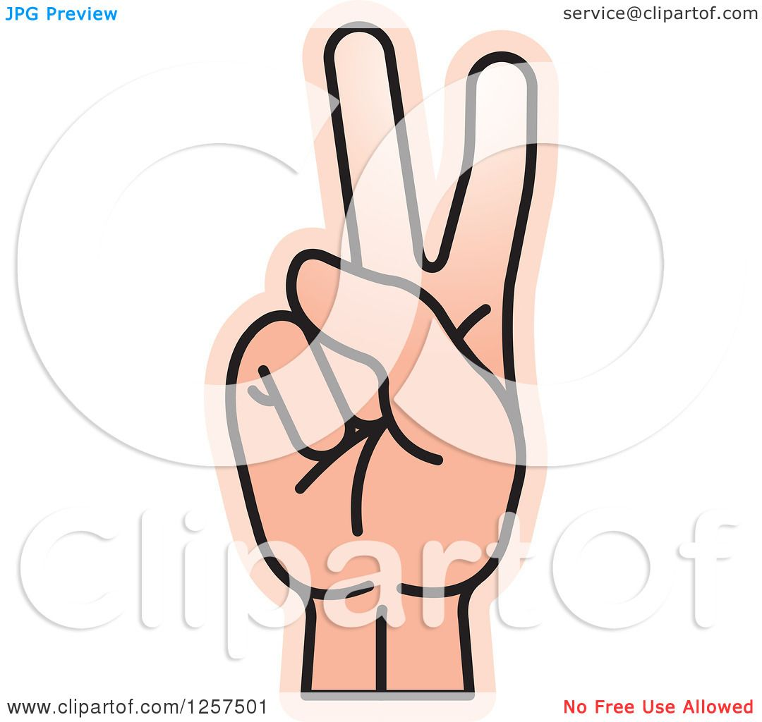 Finger clipart number 2 #9