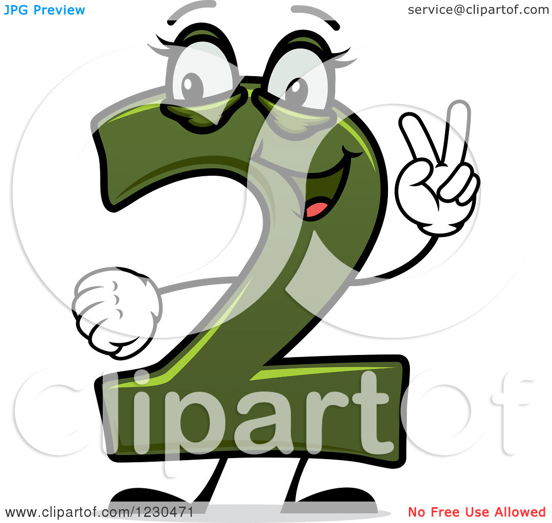 Finger clipart number 2 #5