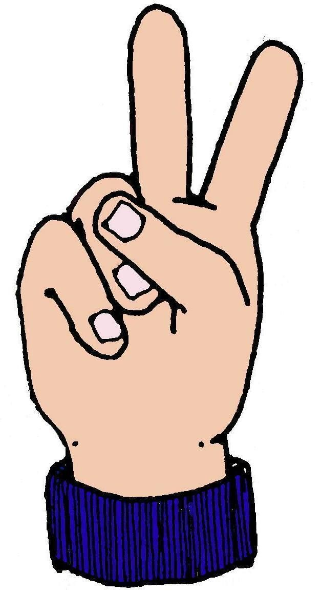 Finger clipart number 2 #6