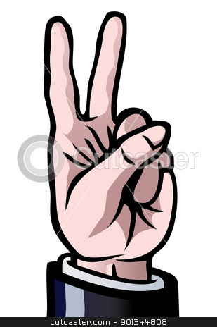 Finger clipart number 2 #3