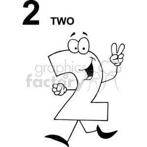 Finger clipart number 2 #12