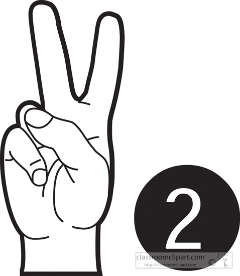 Finger clipart number 2 #4