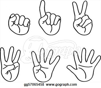 Finger clipart number 2 #10