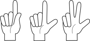 Finger clipart number three #8