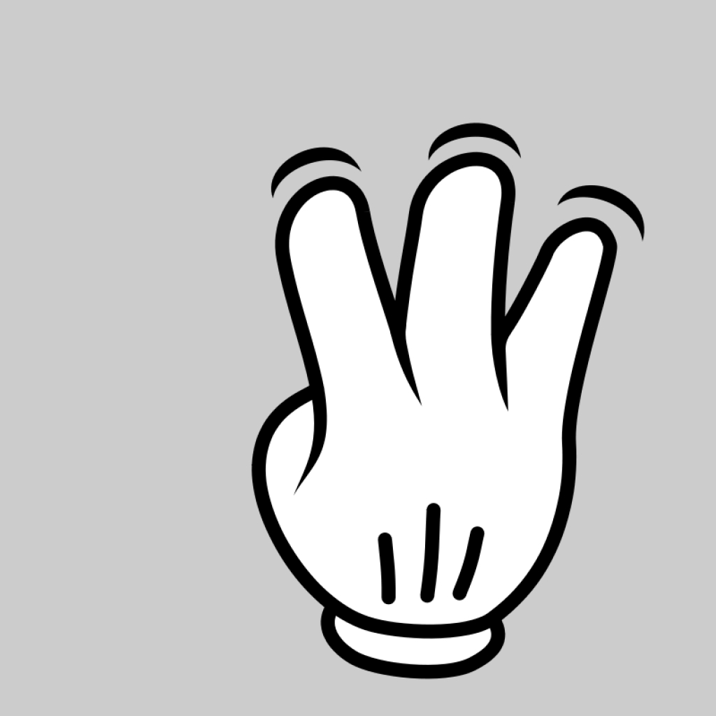 Finger clipart number three #4