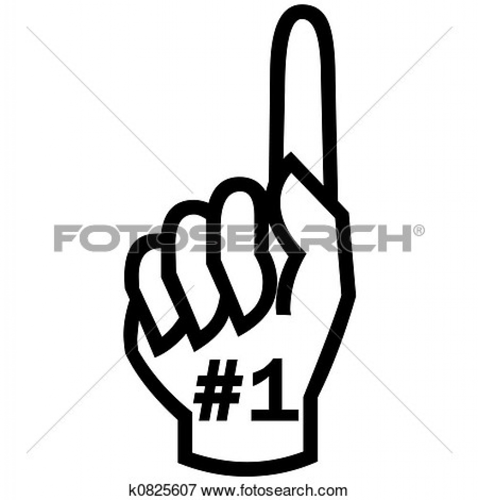 Finger clipart one #12
