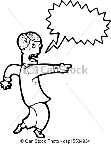 Finger clipart pointing man #3