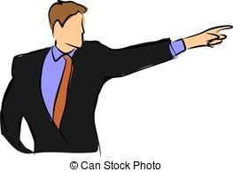 Finger clipart pointing man #12