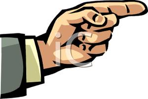 Finger clipart pointing man #13