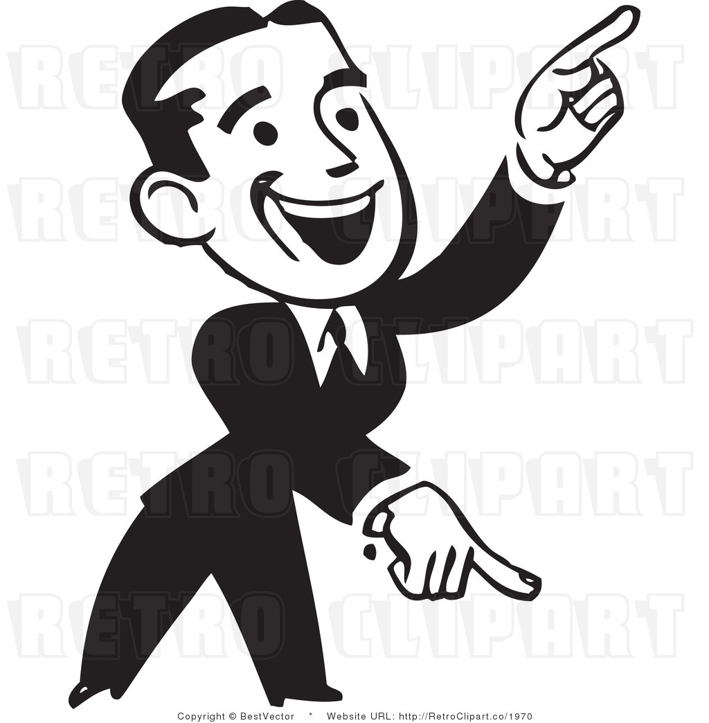 Finger clipart pointing man #7