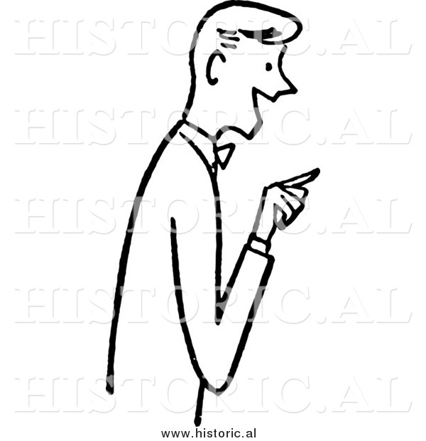 Finger clipart pointing man #14