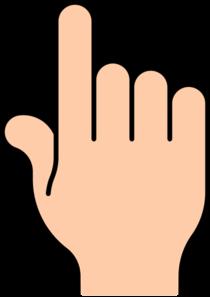Finger clipart touch At Art vector Finger Clker