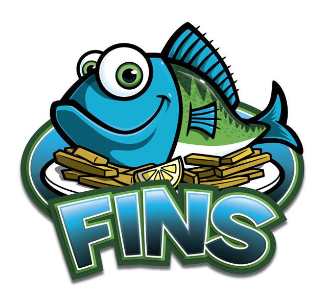 Fins clipart cartoon fish Logo Fins Fish Restaurant character