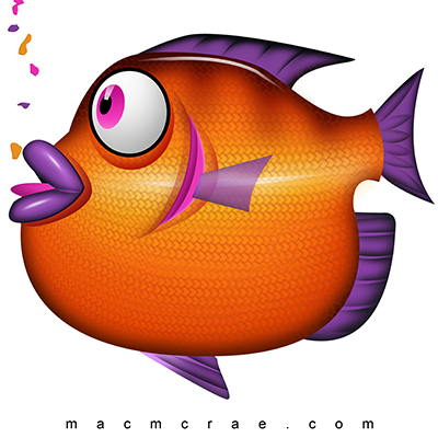 Fins clipart fish food Fish Orange – Orange Eating