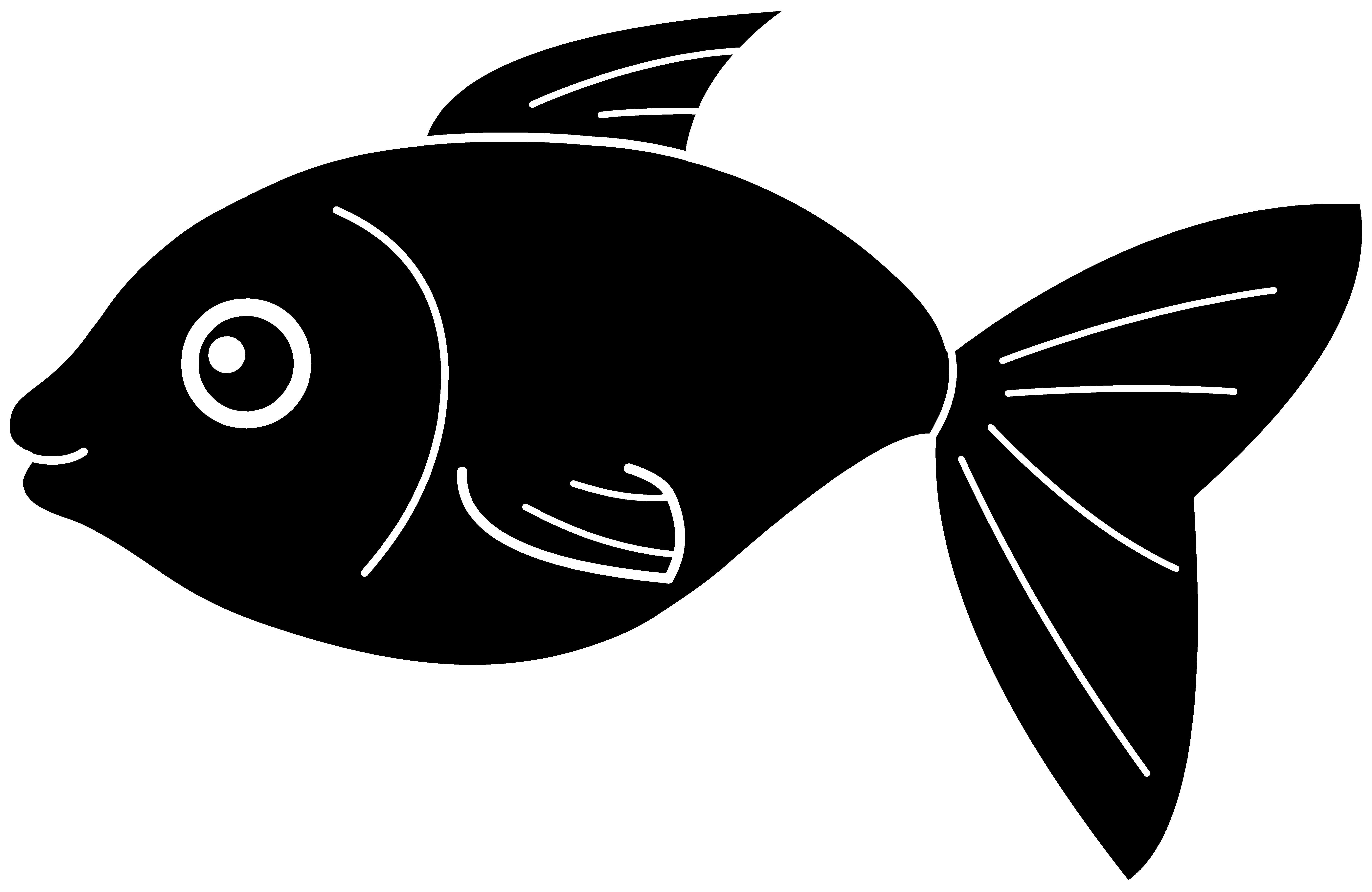 Shadow clipart fish #2