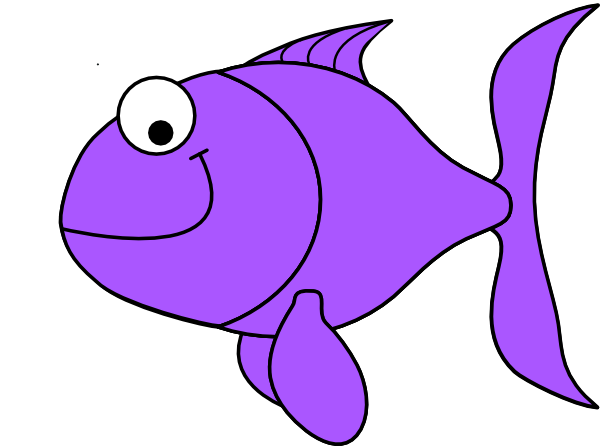 Larger clipart small fish Fish Clip Purple as: