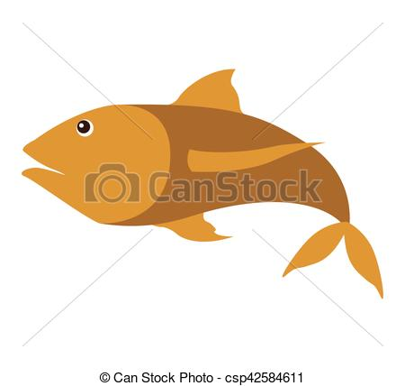 Fins clipart sea fish Fish silhouette Vector  with