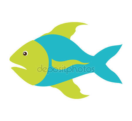 Fins clipart sea fish Blue with fins and sea