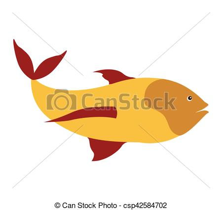 Fins clipart sea fish Fish silhouette and yellow with