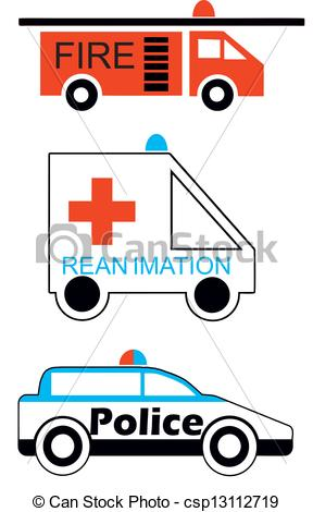 Emergency clipart police car Emergency Clip illustration  Fire