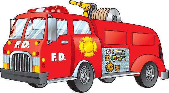 Fire Truck clipart front view Clip Clipartix Truck truck Pictures