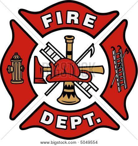 Fire Truck clipart badge #8