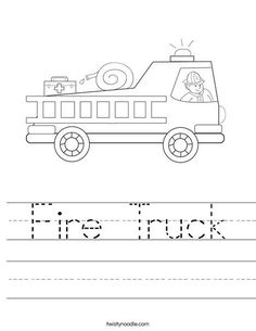 Fire Truck clipart coloring book  Firefighter detail coloring coloring